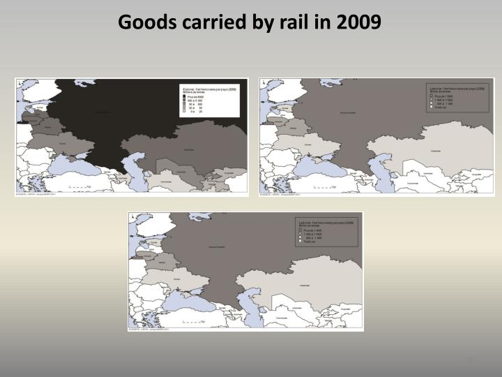 Goods carried by rail in 2009