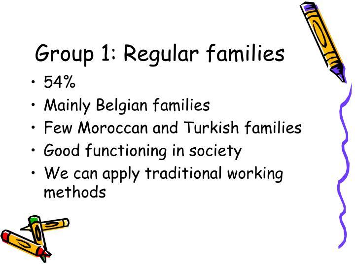 Group 1: Regular families