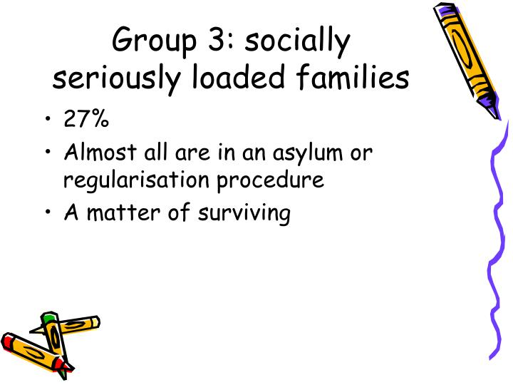 Group 3: socially seriously loaded families