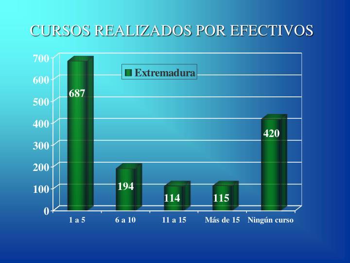 CURSOS REALIZADOS POR EFECTIVOS