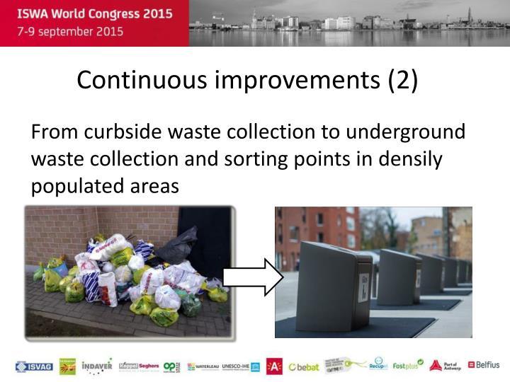 Continuous improvements (2)