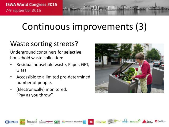 Continuous improvements (3)