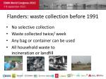 flanders waste collection before 1991