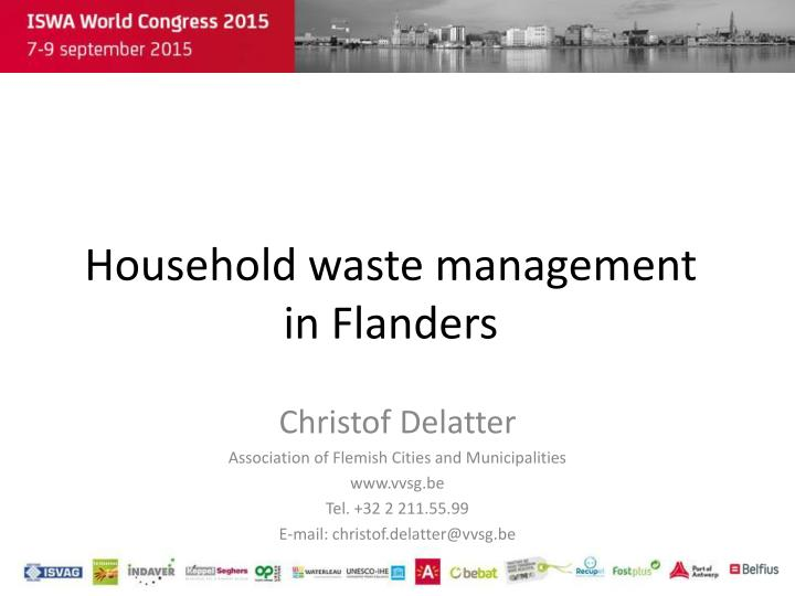 Household waste management in flanders