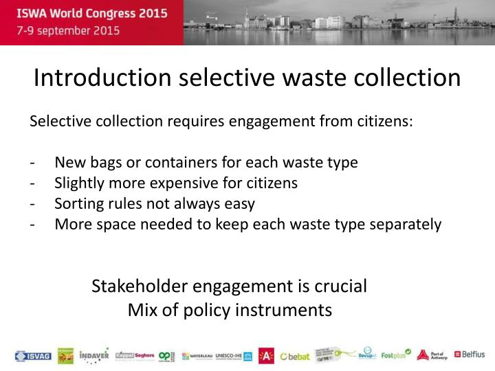 Introduction selective waste collection