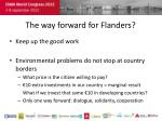 the way forward for flanders