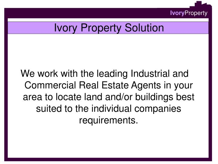 Ivory Property Solution