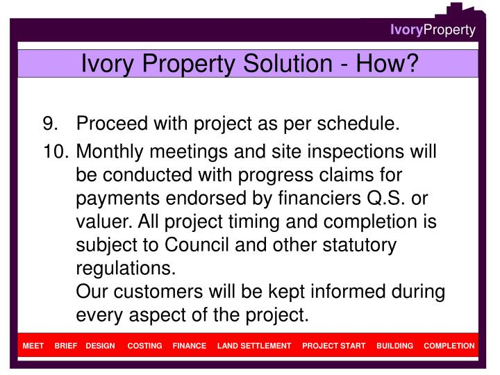 Ivory Property Solution - How?
