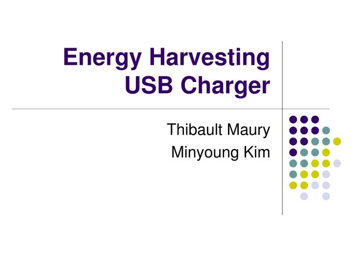 Energy harvesting usb charger