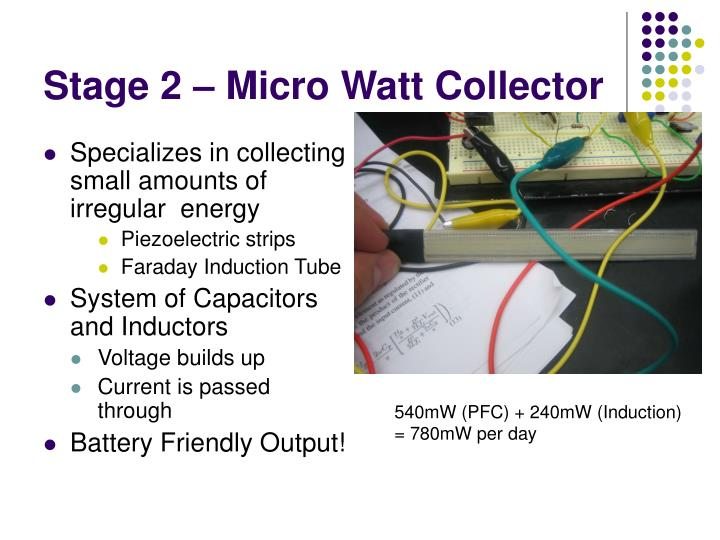 Stage 2 – Micro Watt Collector