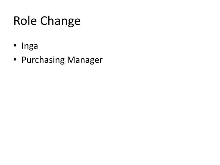Role Change