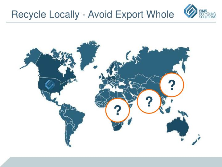 Recycle Locally - Avoid Export Whole