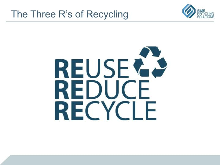 The Three R's of Recycling