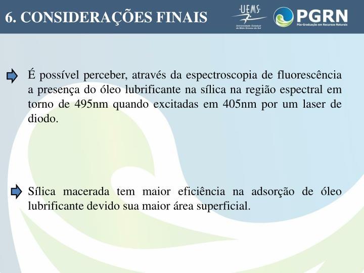 6. CONSIDERAÇÕES FINAIS