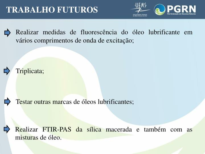 TRABALHO FUTUROS