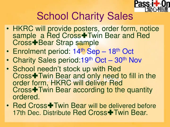 School Charity Sales