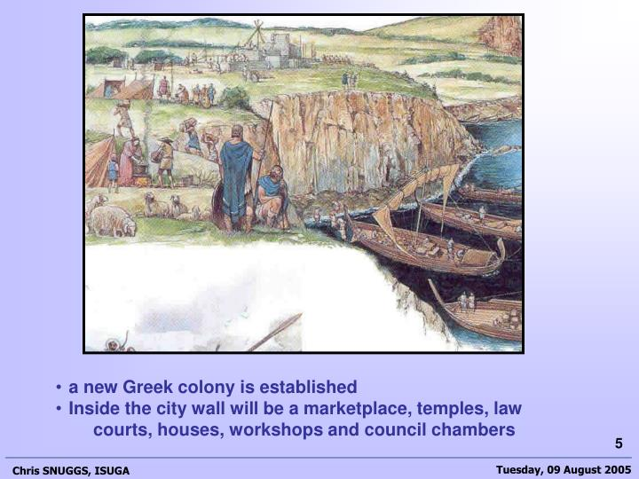 a new Greek colony is established