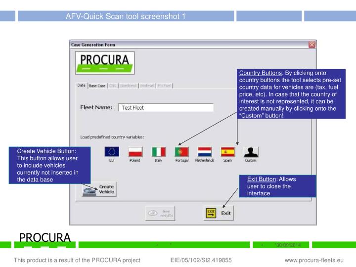 AFV-Quick Scan tool screenshot 1