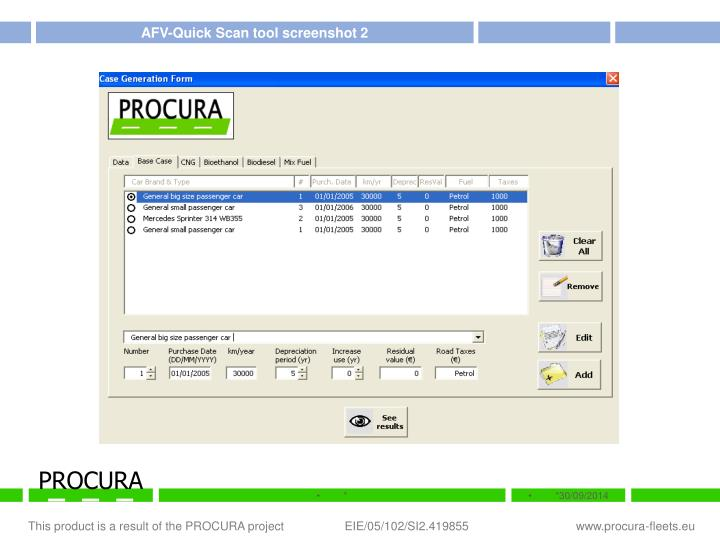 AFV-Quick Scan tool screenshot 2