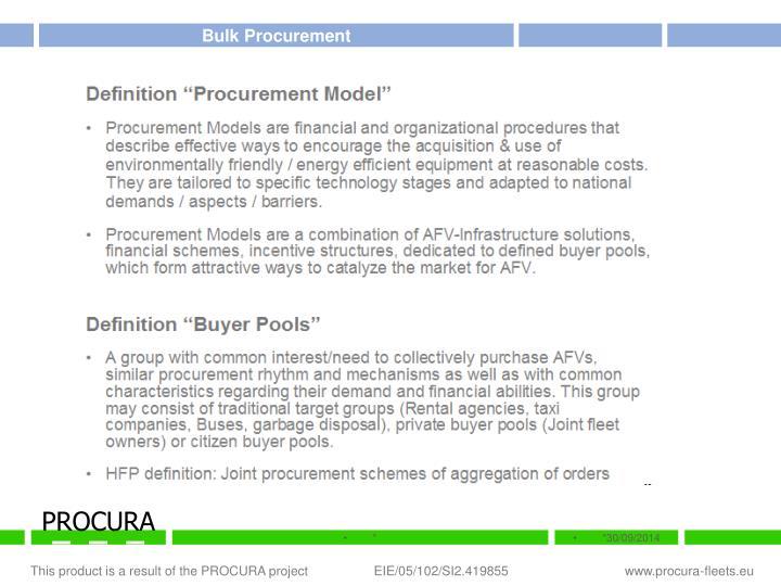 Bulk Procurement