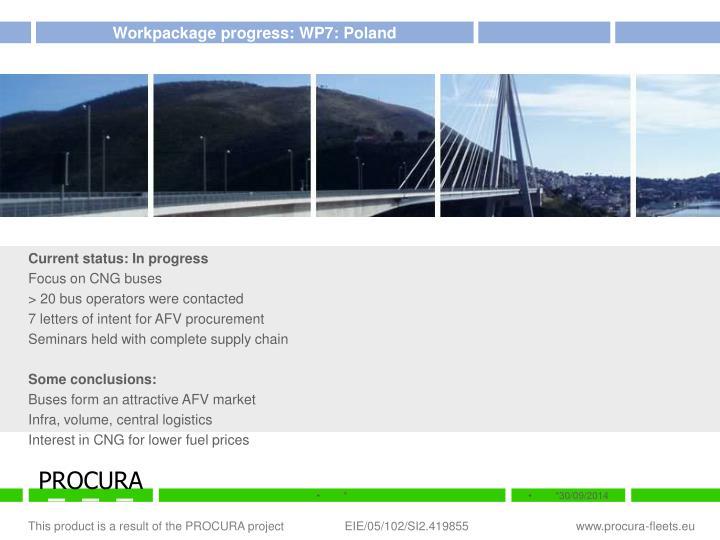 Workpackage progress: WP7: Poland