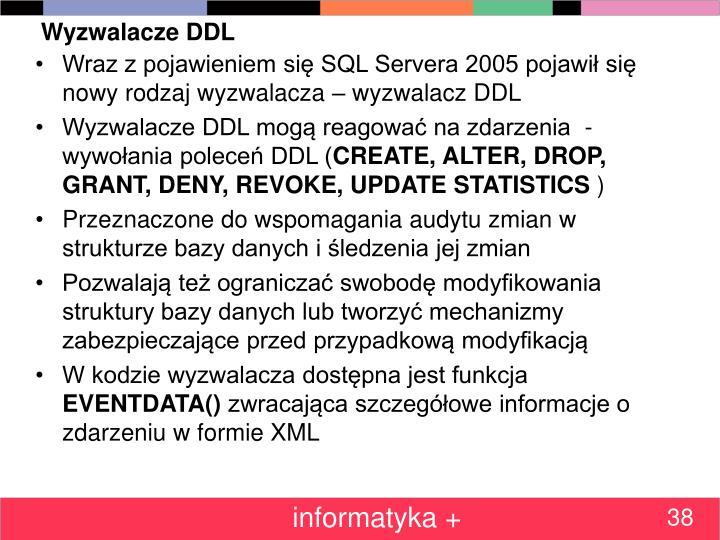 Wyzwalacze DDL