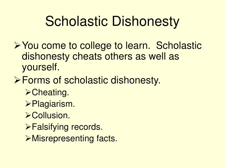Scholastic Dishonesty