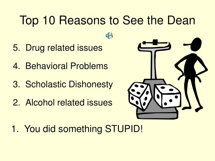 Top 10 reasons to see the dean1