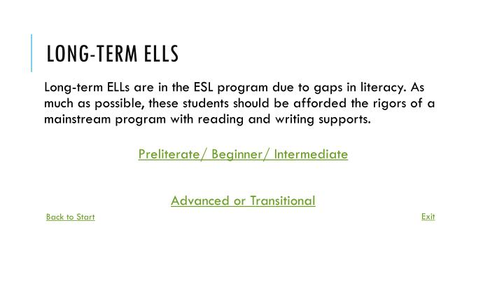 Long-term ELLs