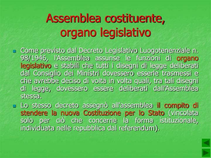 Assemblea costituente,