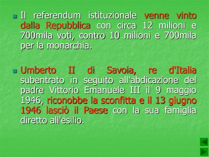 Il referendum istituzionale