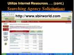 searching agency solicitations