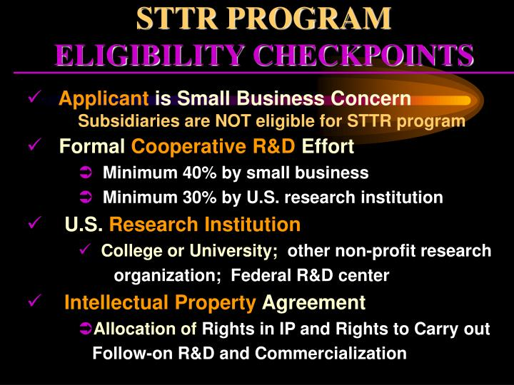 STTR PROGRAM