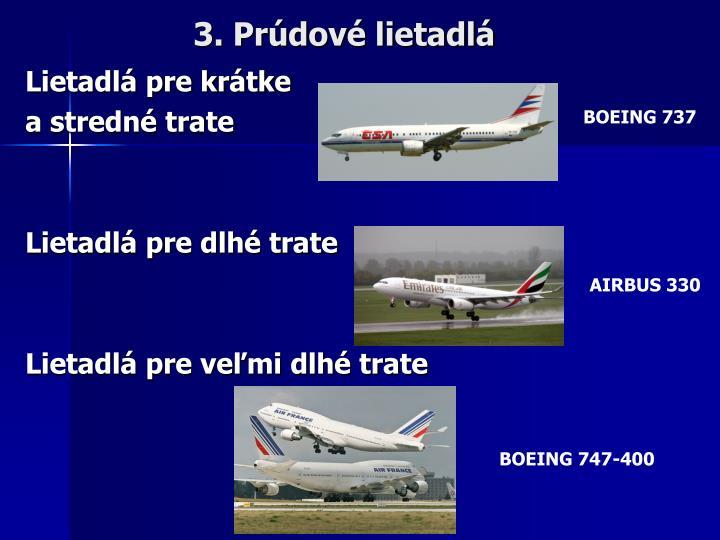 3. Prúdové lietadlá