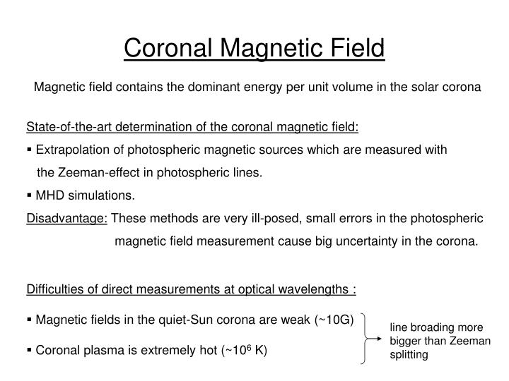Coronal Magnetic Field