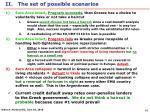 ii the set of possible scenarios