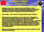 plain english definitions