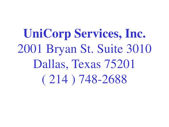 UniCorp Services, Inc.