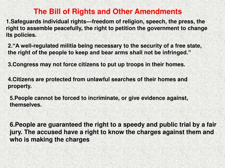 The Bill of Rights and Other Amendments