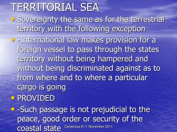 TERRITORIAL SEA