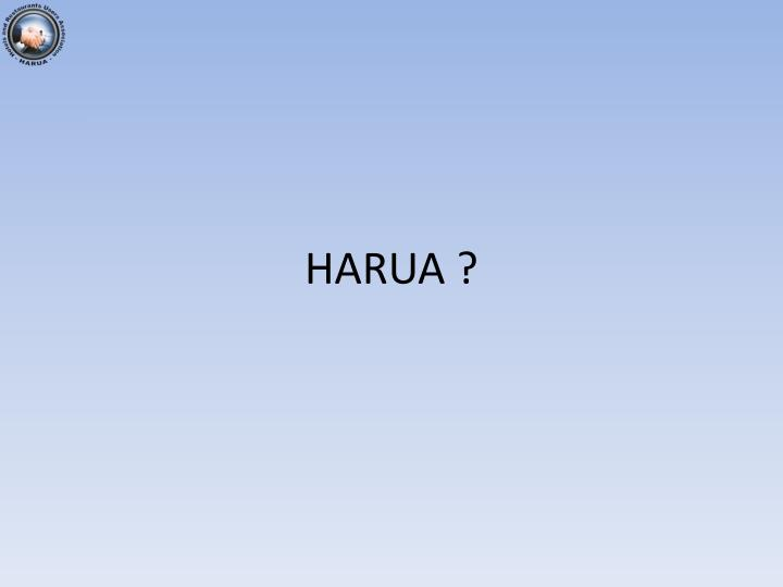 HARUA ?