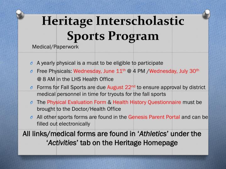 Heritage Interscholastic