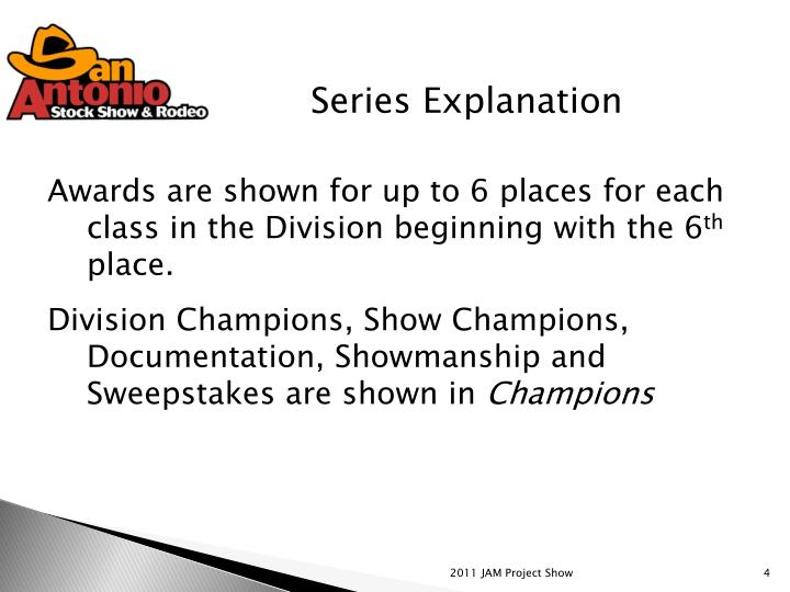 Series Explanation