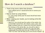 how do i search a database