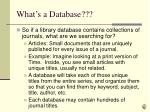 what s a database1