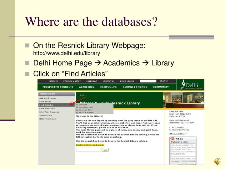 Where are the databases?