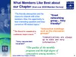 what members like best about our chapter from our 2008 member survey