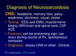 diagnosis of neurosarcoidosis