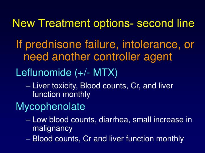 New Treatment options- second line