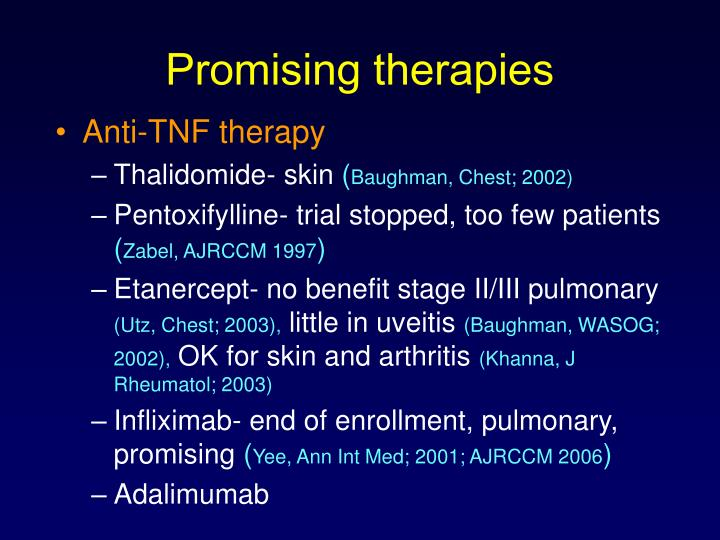 Promising therapies